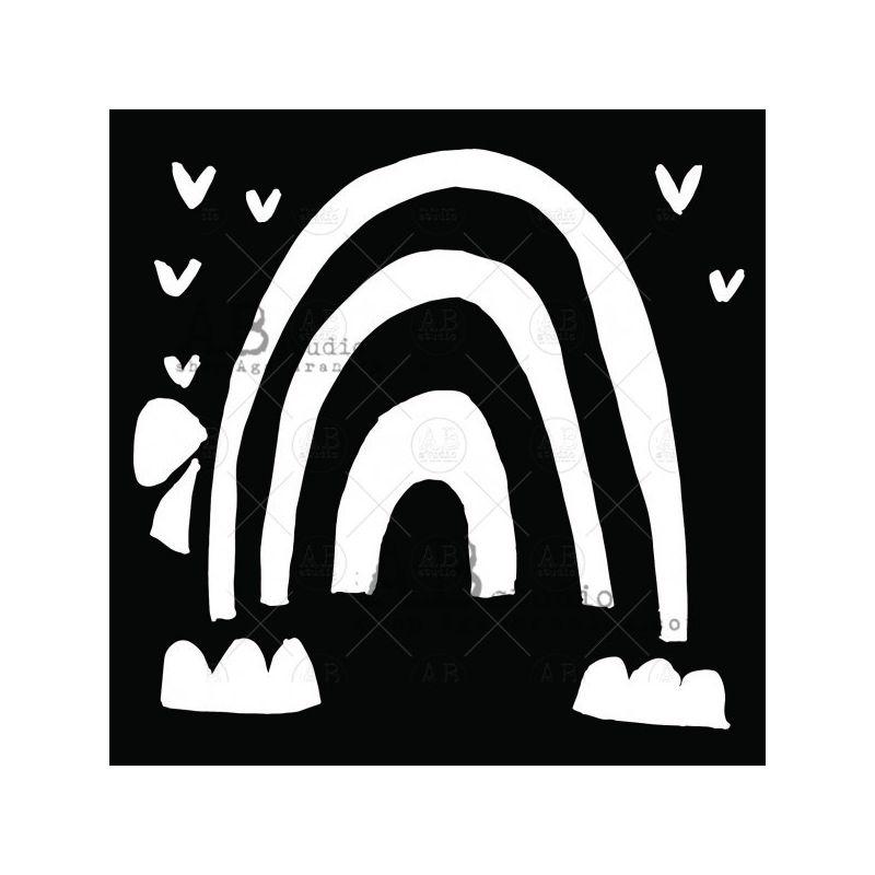 TandiArt stencil - ID-203 - szivárvány