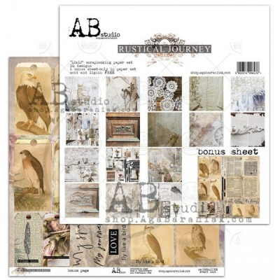"""Rustical Journey 12""""-es kollekció (8 db 2 oldalas papír + bónusz lap)"""