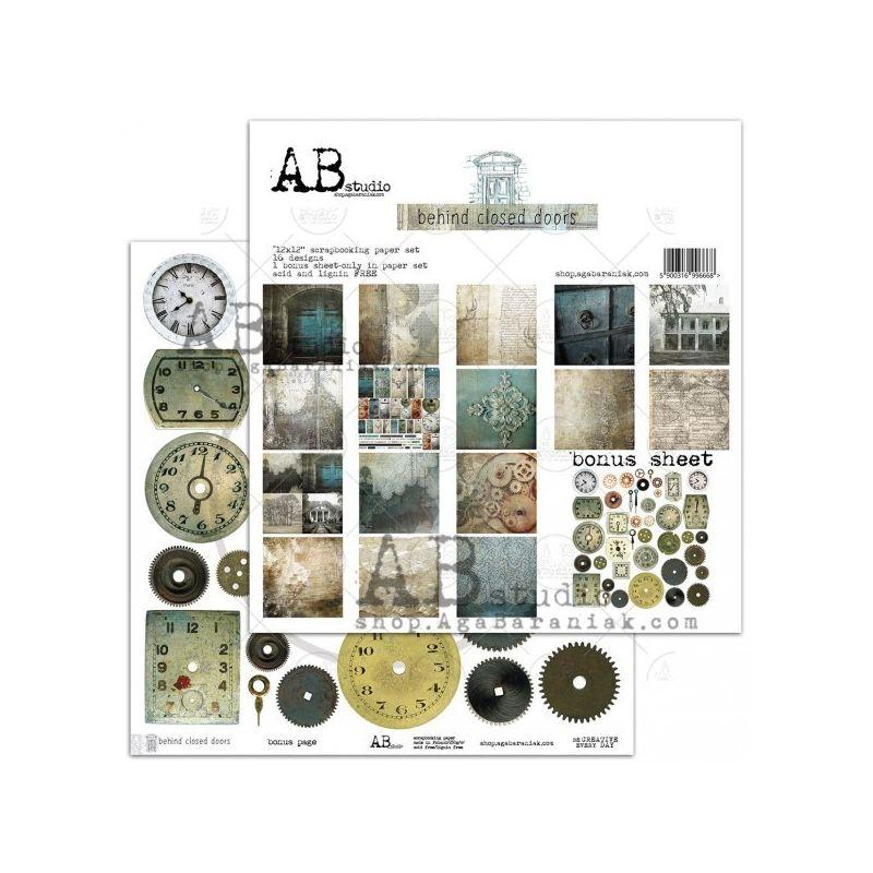 """Behind closed doors 12""""-es kollekció (8 db 2 oldalas papír + bónusz lap)"""