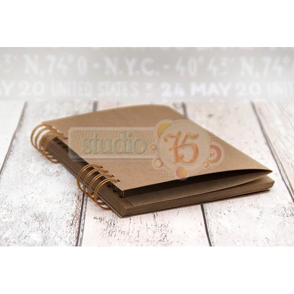 Journal book kraft lapokkal - 15x21 cm