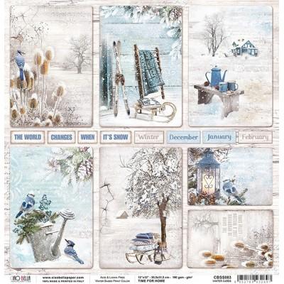 "Winter Cards 12""-es papír"