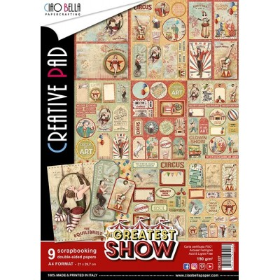 The Greatest Show creative pad A4