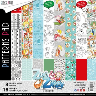 Zoe & Ziggy pattern pad 12x12