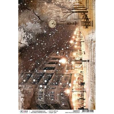 Rizspapír A4 - Snow falls soundlessly