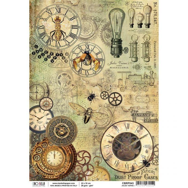 Jules Verne rizspapír A4