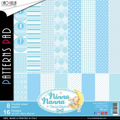 Ninna Nanna Boy pattern pad 12x12