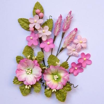 Papírvirág készlet - Wildflowers - Blush