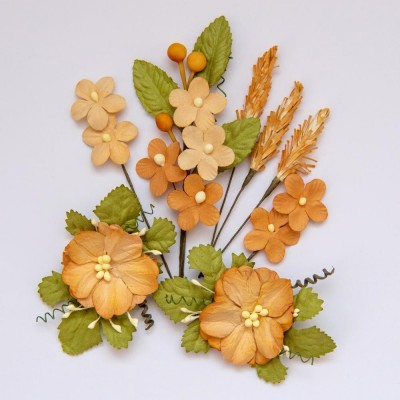 Papírvirág készlet - Wildflowers - Ginger