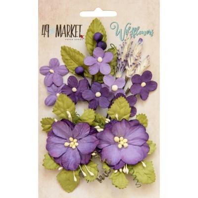 Papírvirág készlet - Wildflowers - Violet