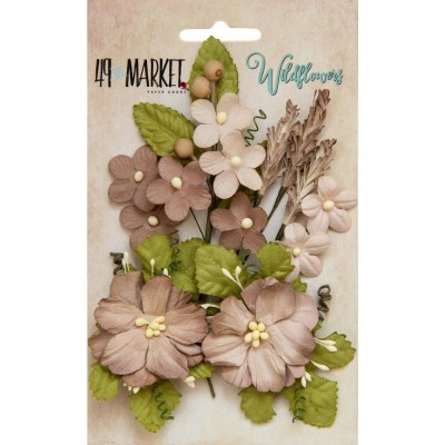 Papírvirág készlet - Wildflowers - Mushroom