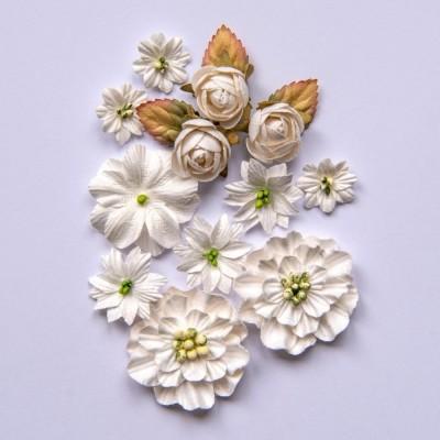 Papírvirág készlet - Country Blooms - Cloud