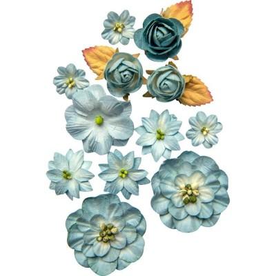 Papírvirág készlet - Country Blooms - Sky