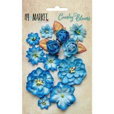 Papírvirág készlet - Country Blooms - Cobalt