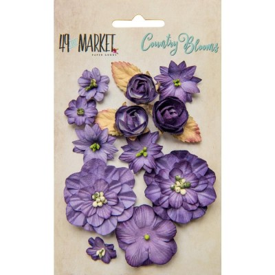 Papírvirág készlet - Country Blooms - Violet