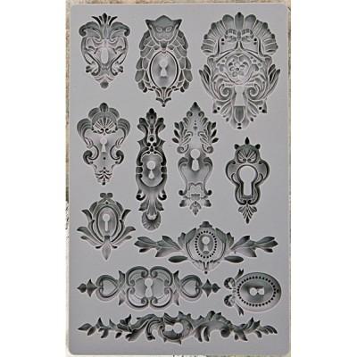 """Iron Orchid Designs Vintage Art Decor Mould 5""""X8"""" - Keyhole"""