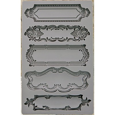 "Iron Orchid Designs Vintage Art Decor Mould 5""X8"" - Object Labels"