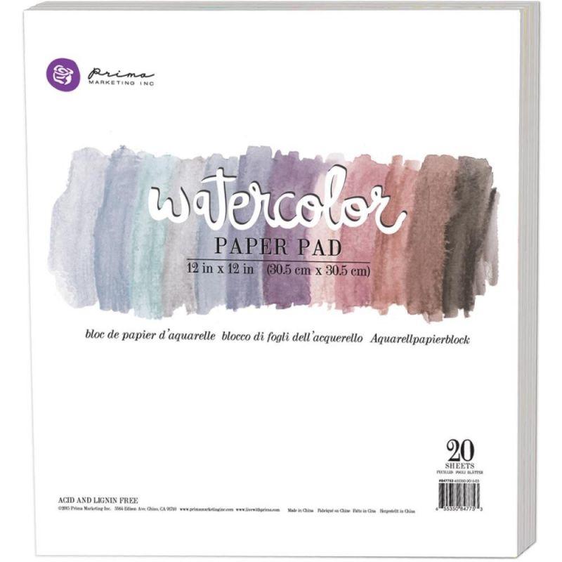 """Prima Marketing akvarell papírkollekció 12""""x12"""" - 20 db"""