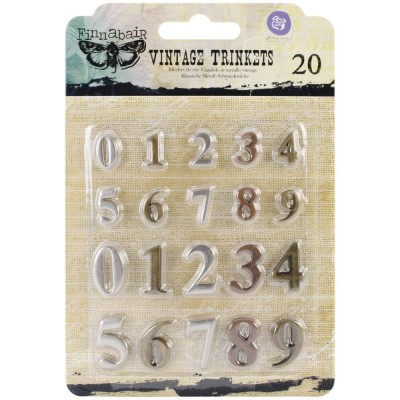 "Finnabair - Vintage Mechanicals Metal Trinkets - Mini Numbers  .5""-.75"", 20db/csomag"