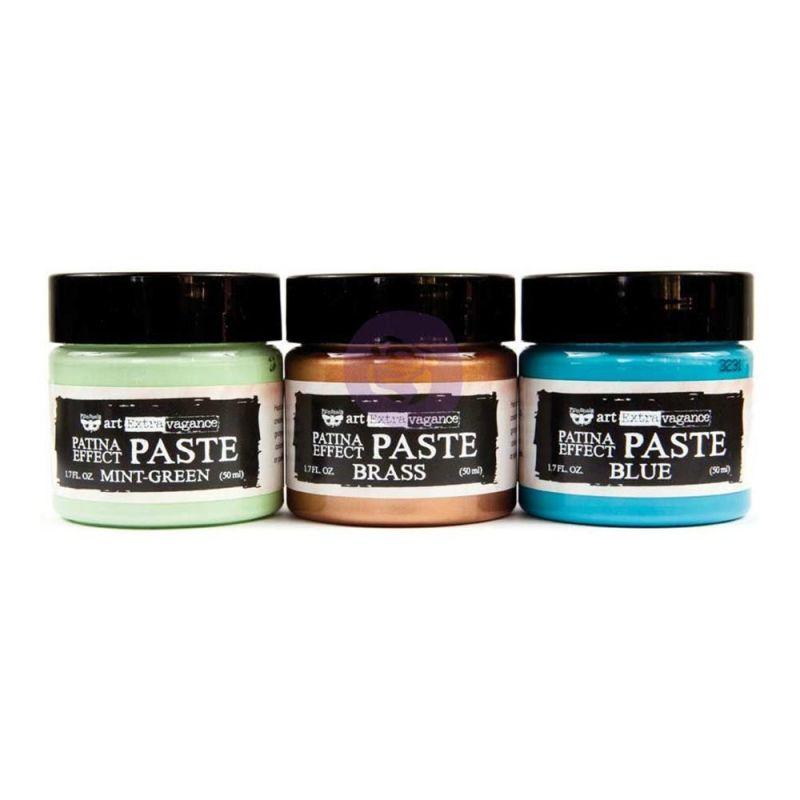 Art Extravagance - Patina Effect Paste Set - Mint Green, Blue, Brass 3 x 50ml