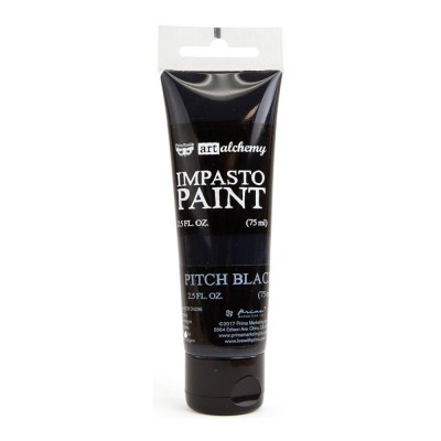 Finnabair - Art Alchemy - Impasto Paint - Pitch Black