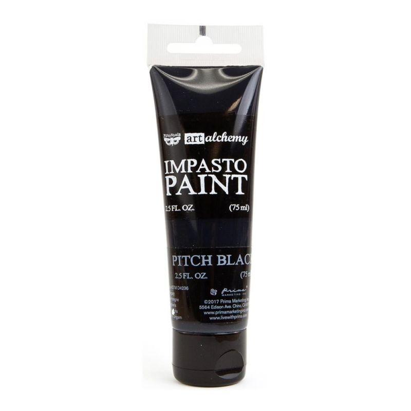 Finnabair - Art Alchemy - Impasto Paint - Pitch Black