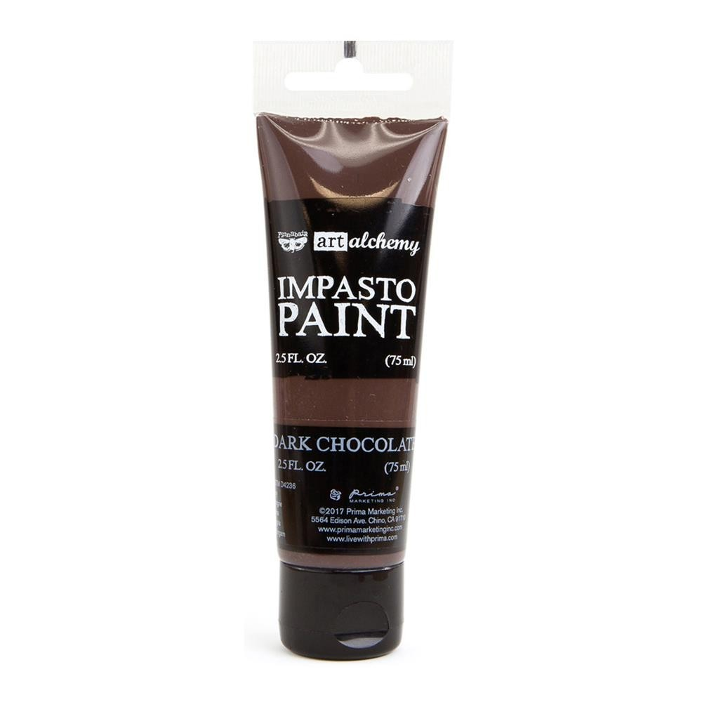 Finnabair - Art Alchemy - Impasto Paint - Dark Chocolate