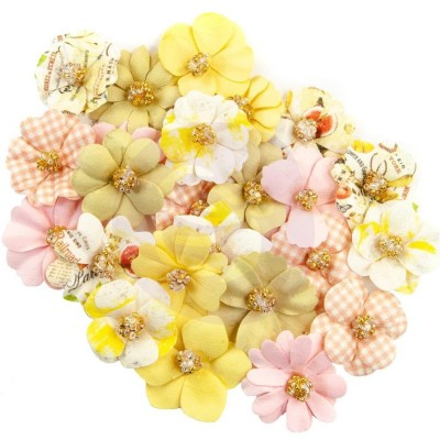 Mulberry Paper Flowers - Kiwi Lime/Fruit Paradise, 24db/csomag