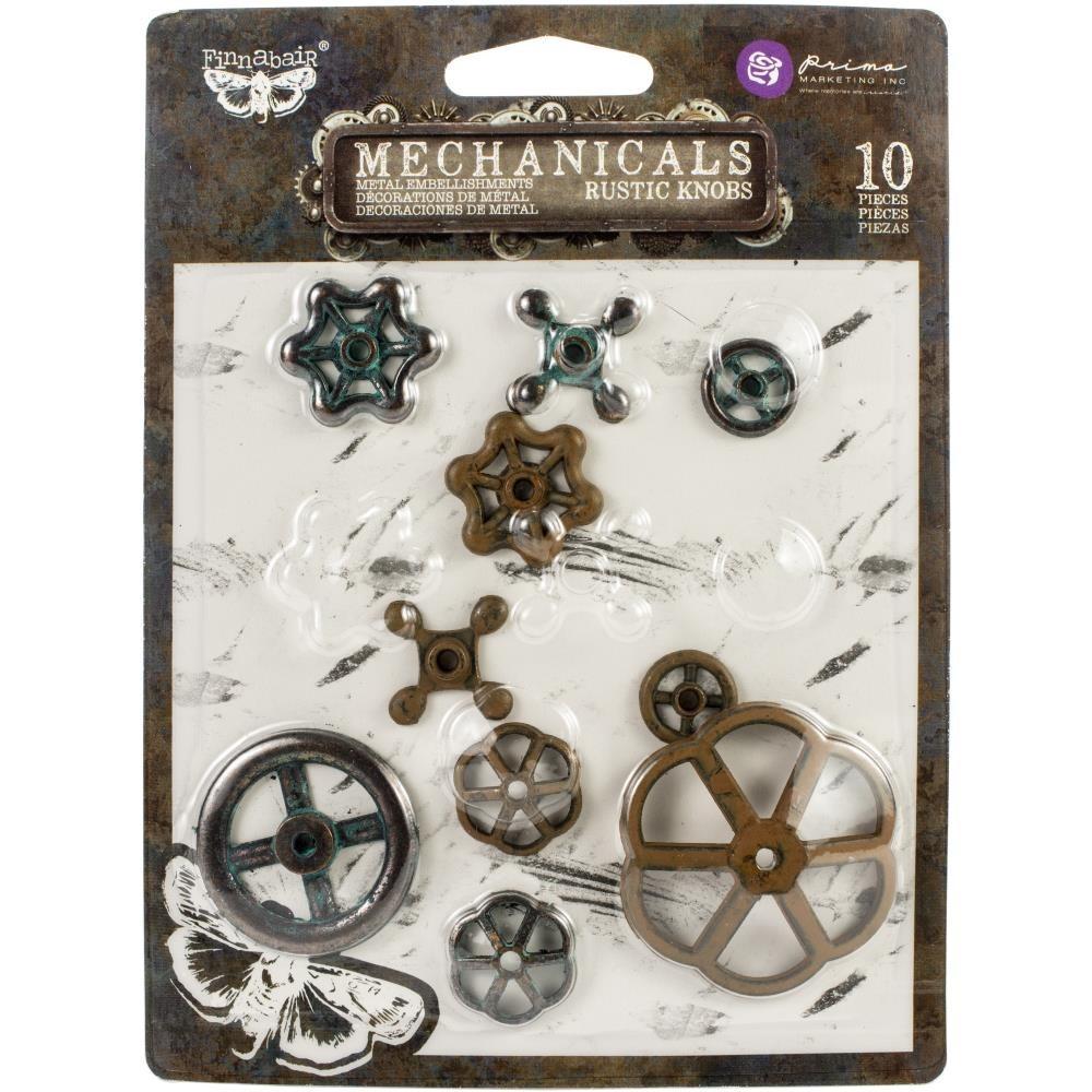 Finnabair - Mechanicals - Metal Embellishments - Rusty Knobs 10db/csomag