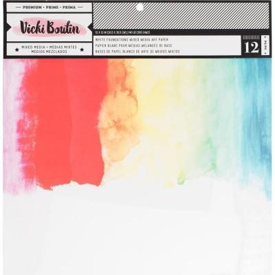 """Vicki Boutin Mixed Media papír 12""""x12"""" - 12 db"""