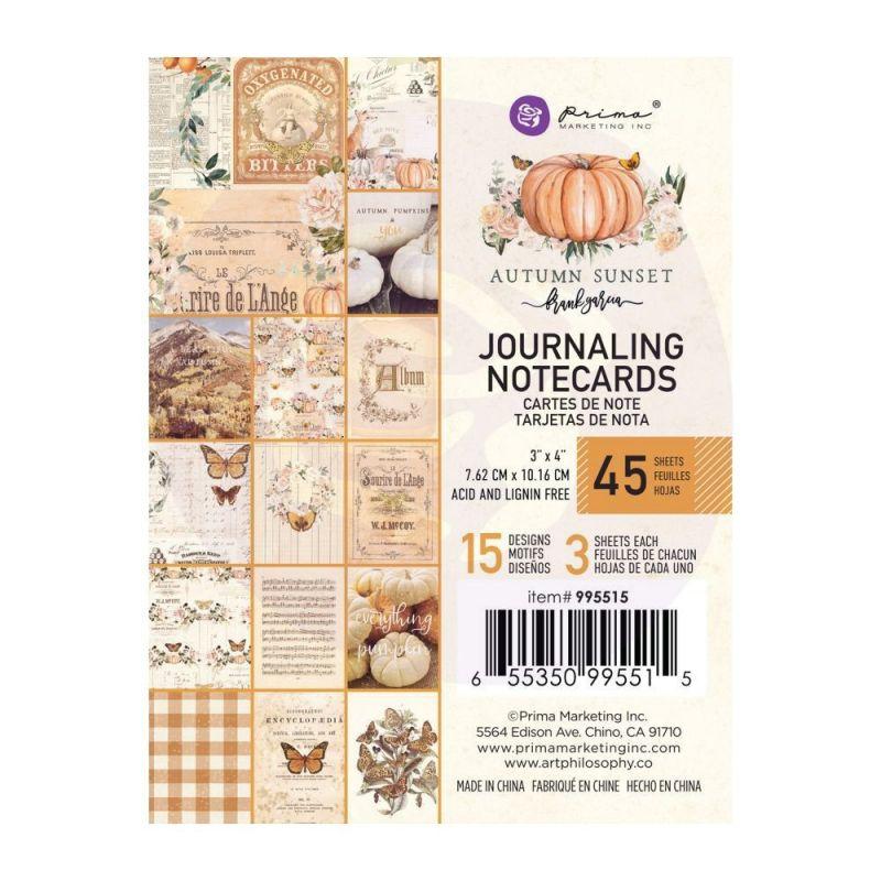 Autumn Sunset - 3x4-es Journaling Cards
