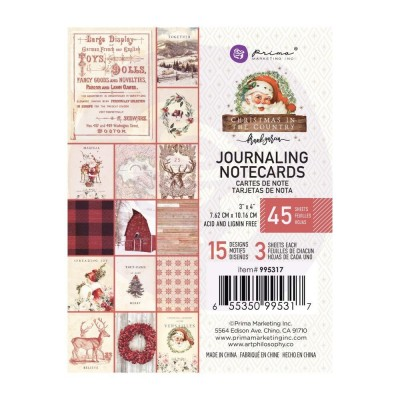 Christmas in the Country - 3x4-es Journaling Cards