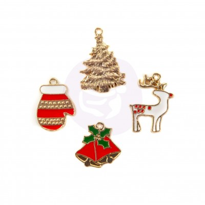 Christmas in the Country - Enamel charms