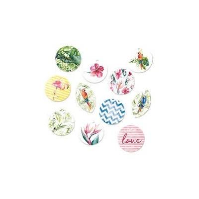 Let's Flamingle - dekorációs címkék 01 - 11 db