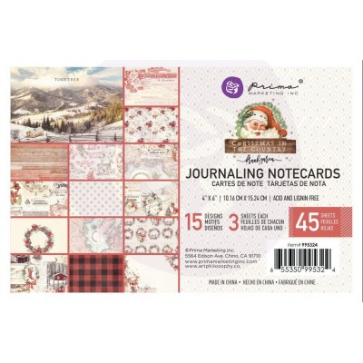 Christmas in the Country - 4x6-os Journaling Cards