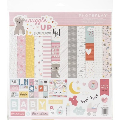 """12""""x12""""-es paprkollekció - Snuggle Up Girl"""