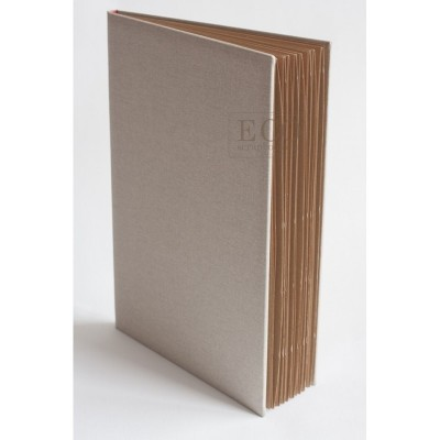 Journal book kraft lapokkal - 15x21 cm