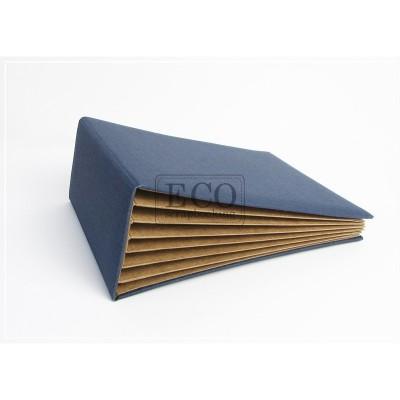 Kék 3D album vászon borítással - 13x18 cm, 6 lapos