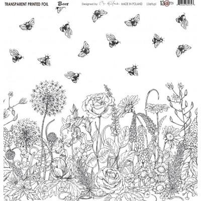 Átlátszó fólia - Bees - 12x12
