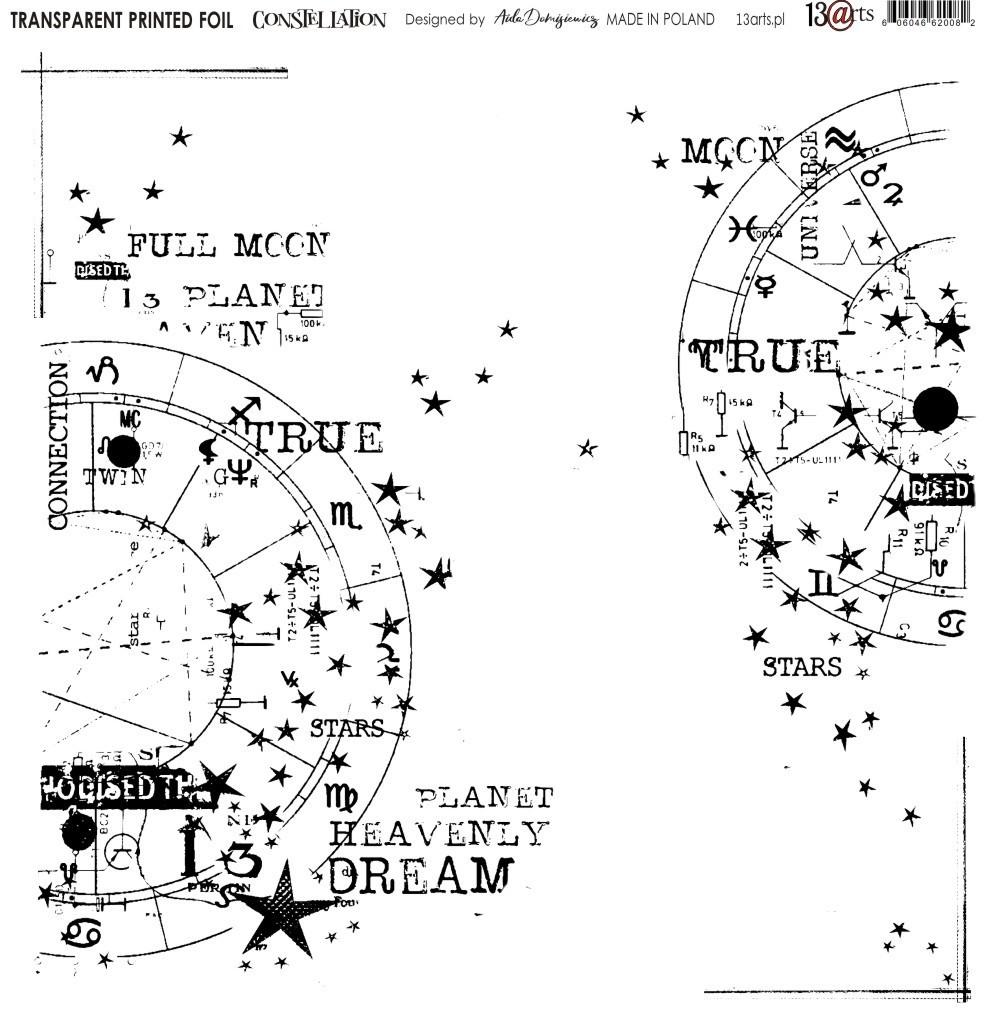 Átlátszó fólia - Constellation - 12x12