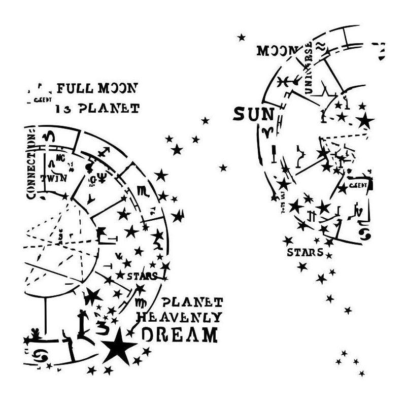 Horoscope stencil