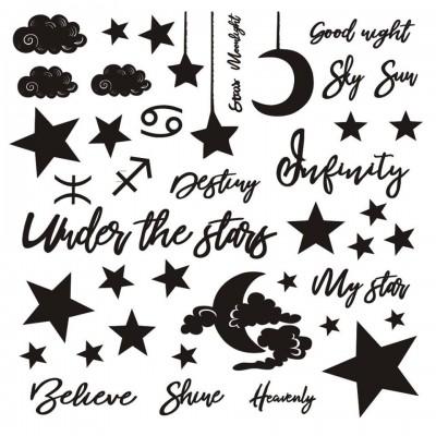 Under the stars 30x30cm-as chipboard szett