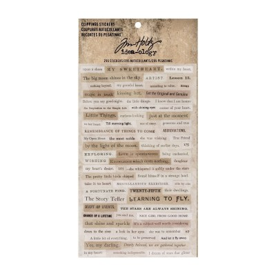Idea-ology - Tim Holtz clippings stickers 295 db matrica