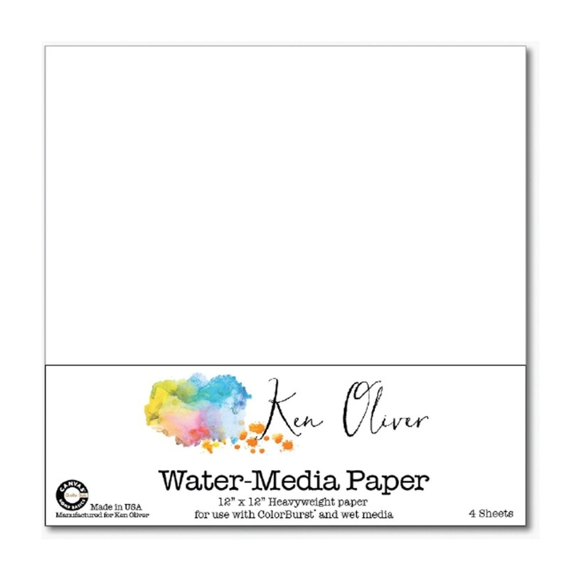 "Ken Oliver - Watercolor mixed media art board 12x12"" (1 db)"
