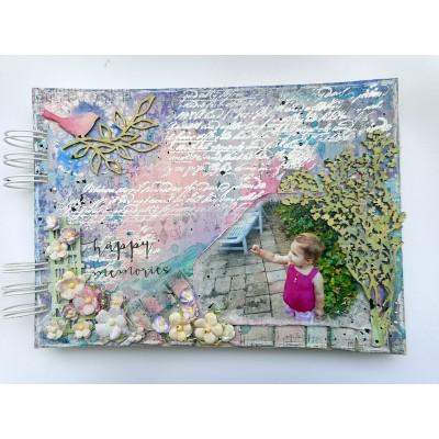 10 lapos chipboard album - 15x21 cm
