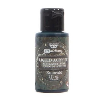 Finnabair - Art Alchemy - Liquid Acrylic Paint, folyékony akrilfesték - emerald