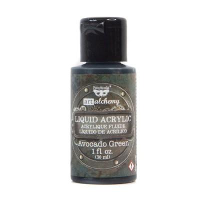 Finnabair - Art Alchemy - Liquid Acrylic Paint, folyékony akrilfesték - avocado green
