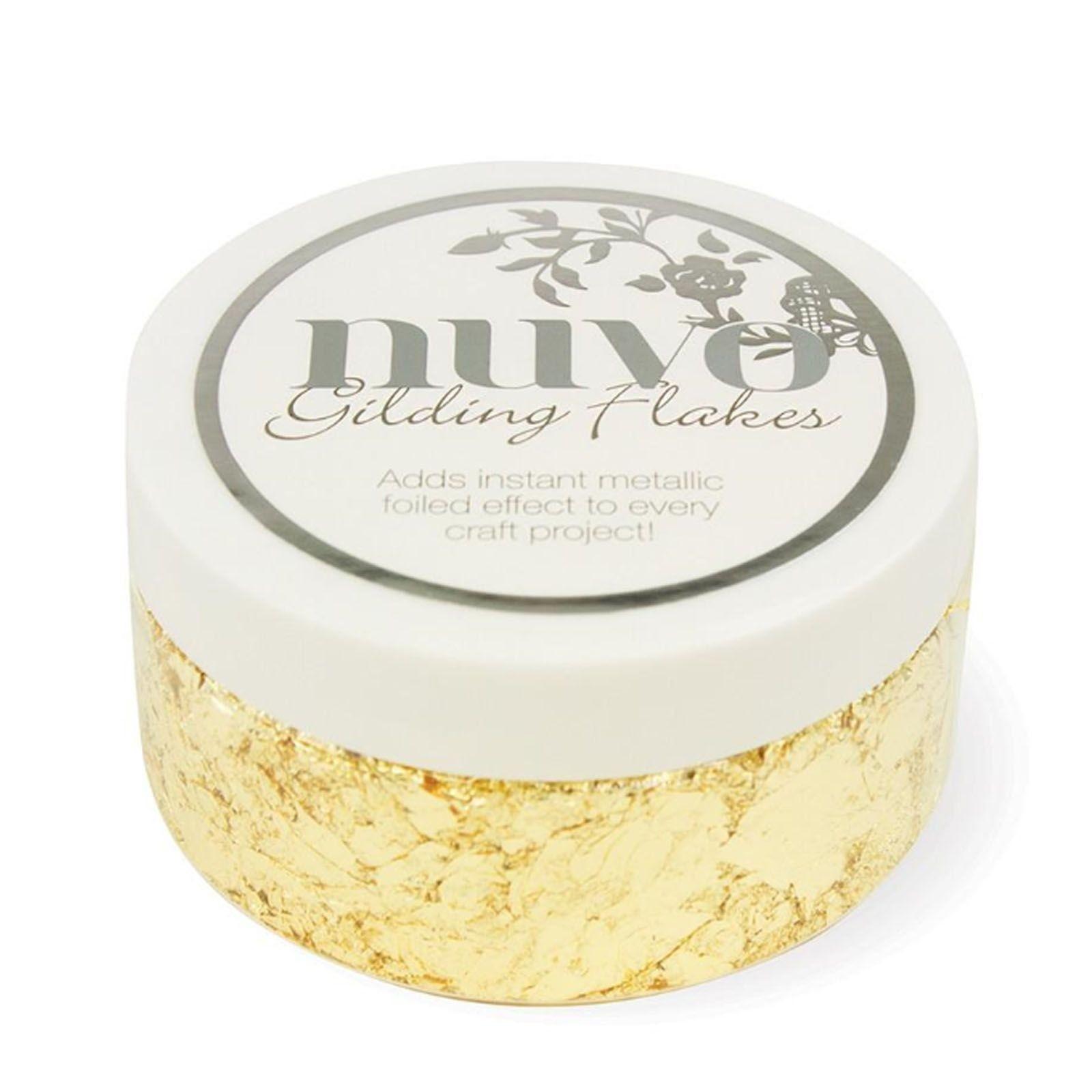 Nuvo gilding flakes (pelyhek) - radiant gold