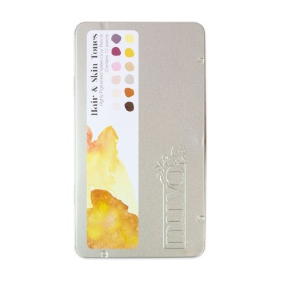 Nuvo akvarell ceruza (12 db) - bőr és haj tónusok