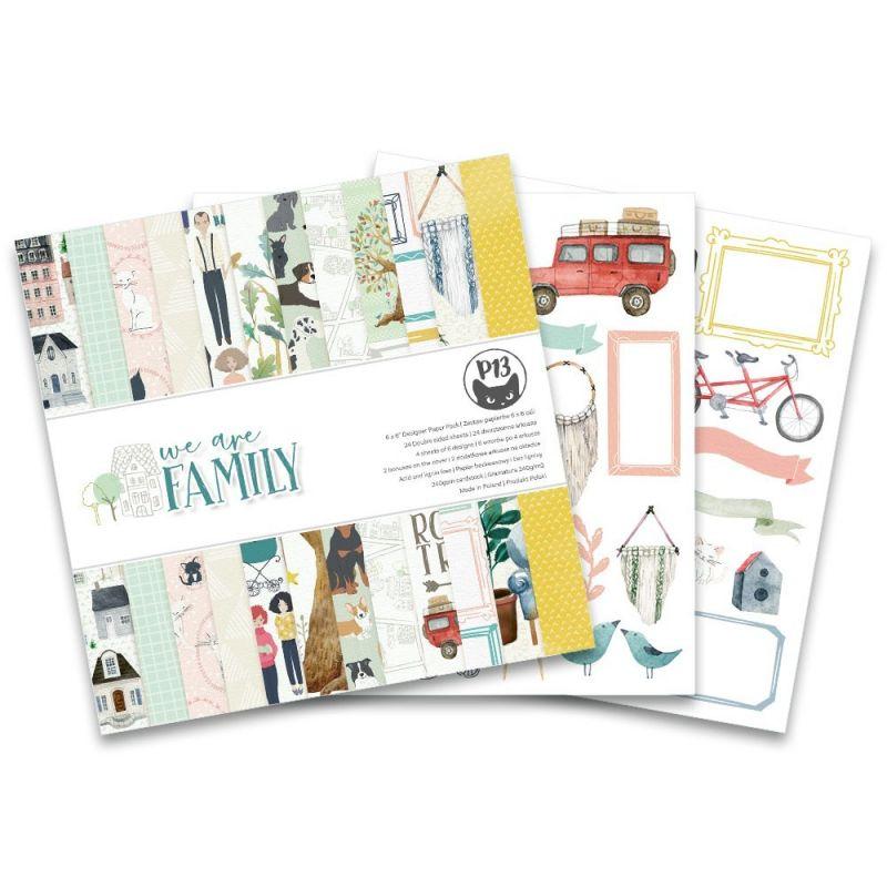 """We Are Family - 6""""-es kollekció (24 db 2 oldalas papír + 2 db kivágóív)"""