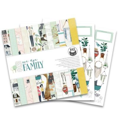 """We Are Family - 12""""-es mini kollekció (6 db 2 oldalas papír + 1 db kivágóív)"""